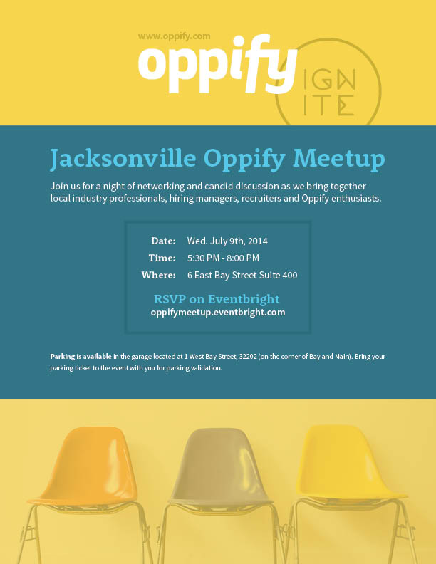 Oppify Meetup Flyer