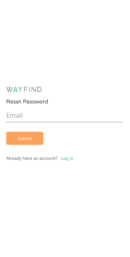 Forgot Password Screen
