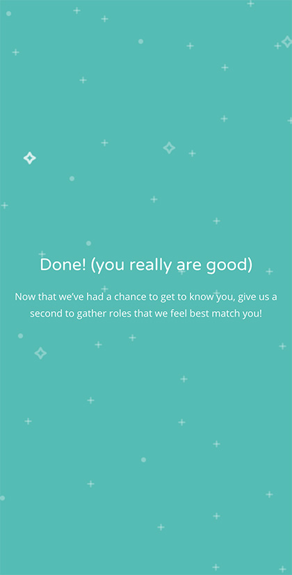Onboarding Success Screen