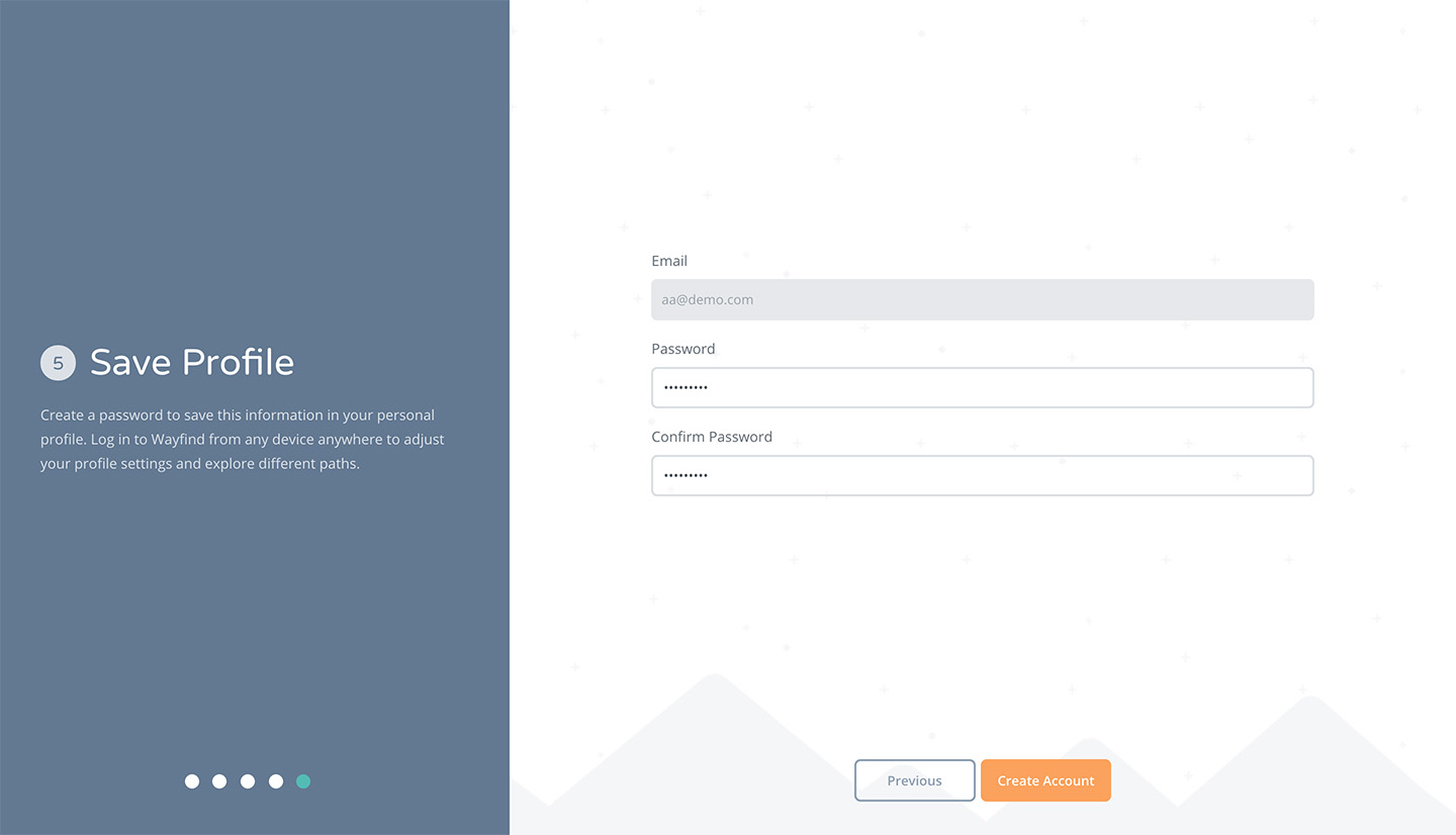 Onboarding Save Profile Screen